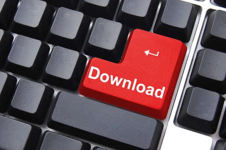internet download button on black computer keyboard                                     photo