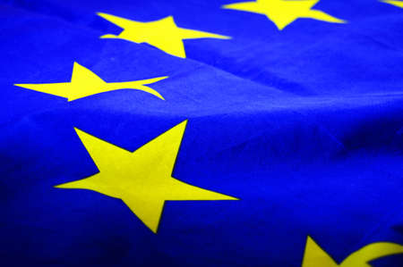 eu or european union flag in blue with yellow stars                                Stock Photo - 6142306