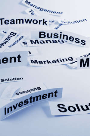 concept for management of a new business with paper and words Stock Photo - 6142311