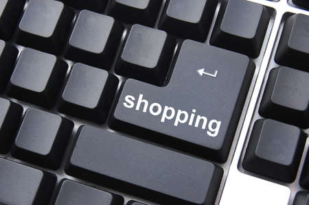 e store: shopping computer key showing intenet ecommerce business