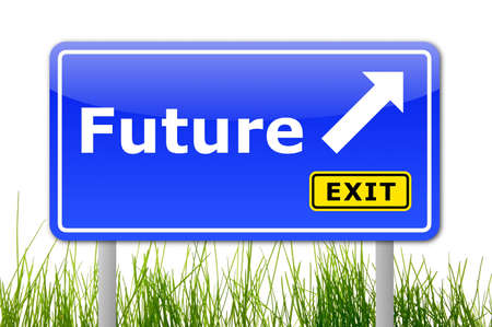 traffic sign with future and arrow showing the right direction Stock Photo - 6160573