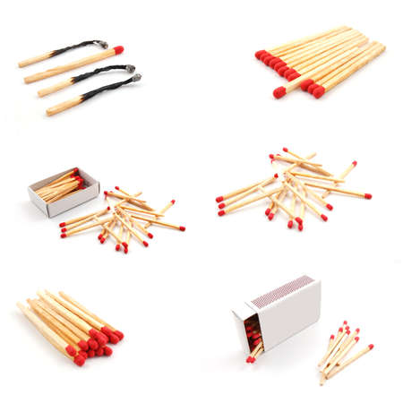 collection of matches showing hot  fire concept photo