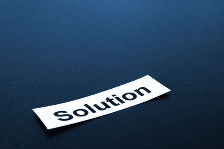 solution for business problem concept with copyspace                                     photo