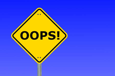oops written on a yellow road traffic sign                                     Stock Photo - 6198926