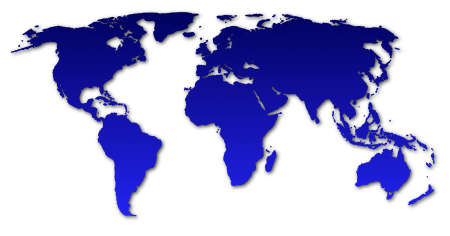 map of the world isolated on white background Stock Photo - 6198915