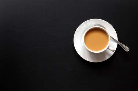 cup of coffee and black copyspace for text message Stock Photo - 6229084
