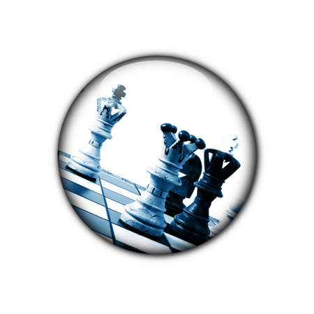 chess button showing business stratregy or competition concept photo