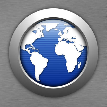 world map button for internet web site photo