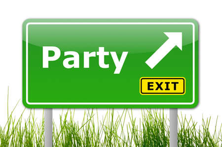 find a fun party and follow the road sign
