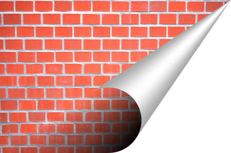brick wall and corner with copyspace for text message photo