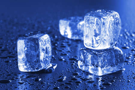 cool ice cube background with copyspace for a text message Stock Photo - 6481055