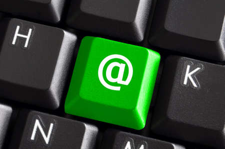 internet or web concept with email or mail button photo