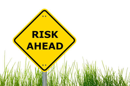 risk ahead sign showing business concept with copyspace Stock Photo - 6480793