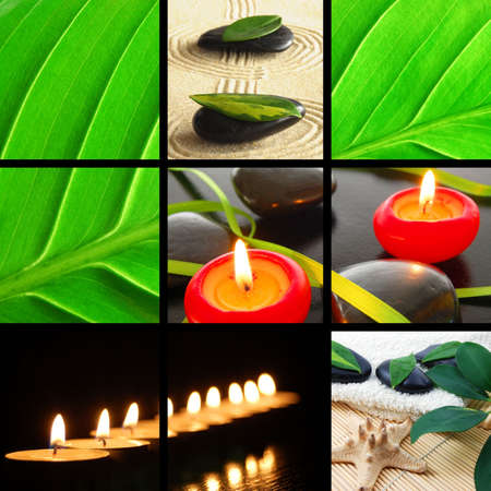 spa or wellness concept  with images in collage