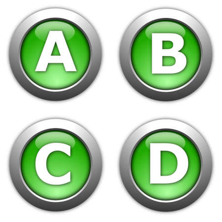 collection of web button alphabet and numbers Stock Photo - 6565571