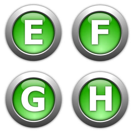 collection of web button alphabet and numbers Stock Photo - 6565568