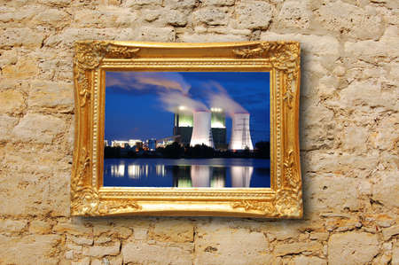 oil or gas power plant showing energy supply concept Stock Photo - 6565665