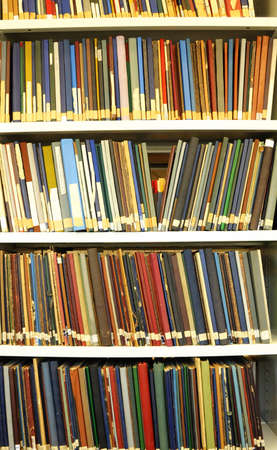 academia: education books in a library showing school or university concept