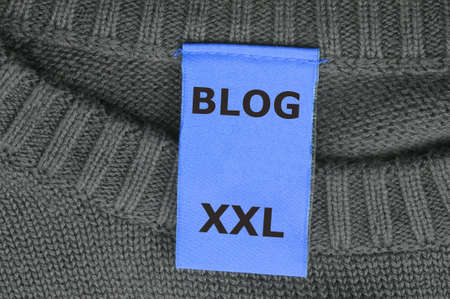 xxl internet web blog concept with fashion label Stock Photo - 6651857