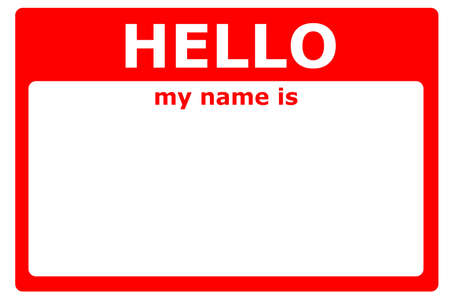 hello my name is sign with blank white copyspace for text message Stock Photo - 6690233