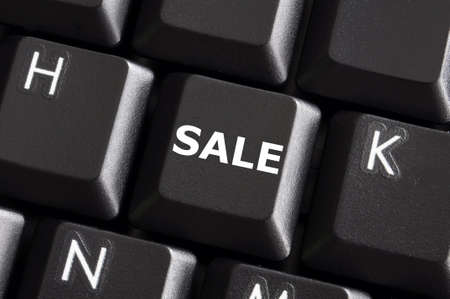 sale business or ecommerce concept with keyboard  Stock Photo - 6745118