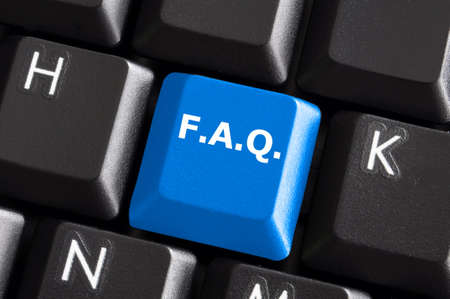 faq internet or web concept with computer keyboard Stock Photo - 6745065