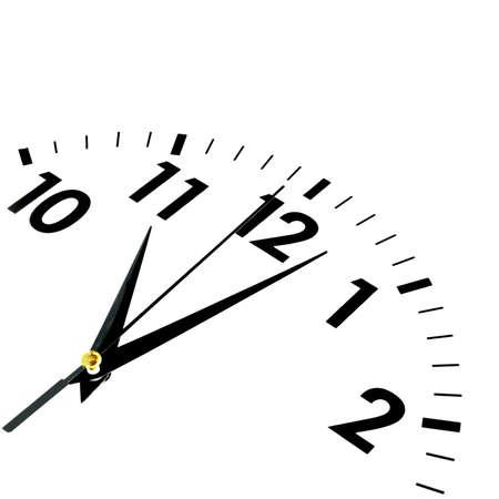 orologio da parete: orologio o orologio isolato su sfondo bianco mostrando concetto di tempo o businss Archivio Fotografico