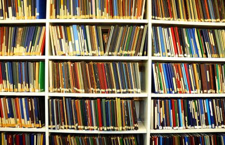 book shelf: bookshelf or book shelf in a university library