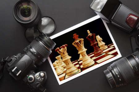 microstock: photography equipment like dslr camera  and image