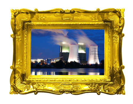 oil or gas power plant showing energy supply concept photo