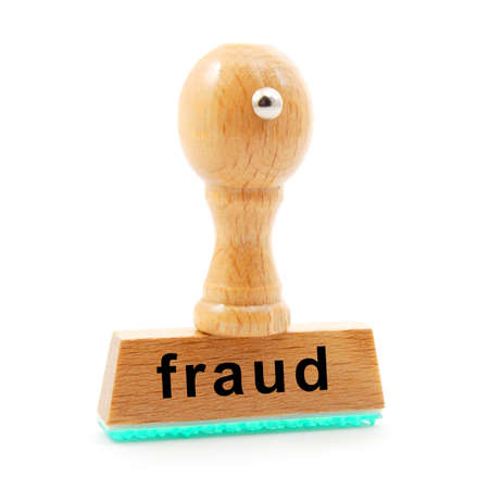 fraud stamp showing crime concept with copyspace Stock Photo - 6907626