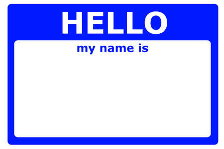 blank tag: hello my name is sign with blank white copyspace for text message