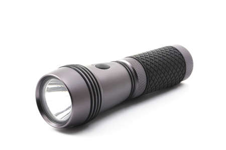 outdoor flashlight isolated on a white background photo