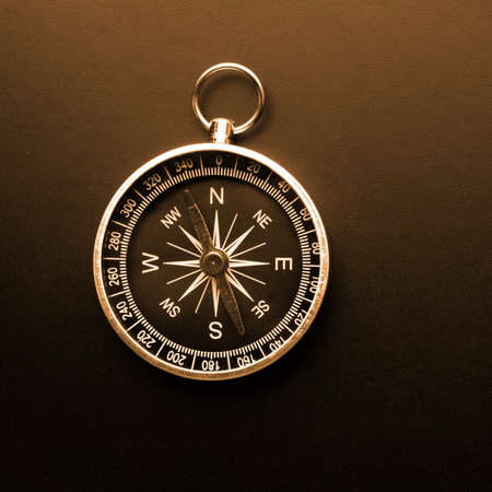 compass showing business navigation concept with copyspace photo