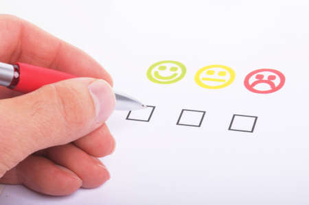 customer satisfaction questionnaire showing marketing or business concept Stock Photo - 7055581