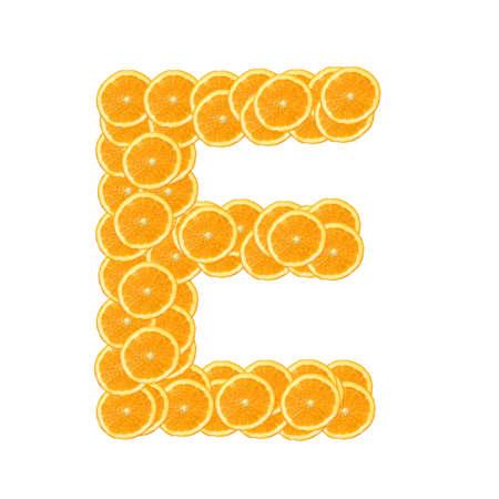 healthy orange fruit alphabet or font isolated on white background Stock Photo - 7092753