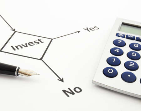 investment and flowchart showing business or finance concept Stock Photo - 7092667
