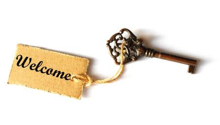 tecla enter: concepto de la recepci�n con clave de grunge antigua y sello o etiqueta