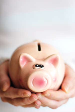save money with your financial piggy bank photo