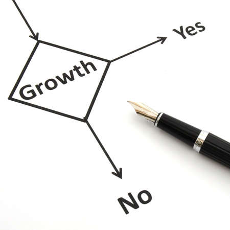 business or finance concept with word growth in flow chart Stock Photo - 7110708