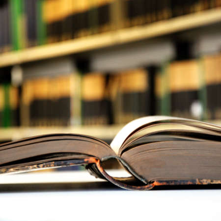 law: books in a library bookshelf for university education