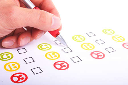 customer satisfaction questionnaire showing marketing or business concept photo