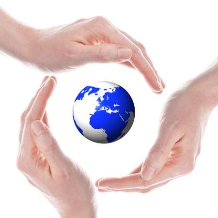 el mundo en tus manos: mundo o mundo en tus manos aisladas sobre fondo blanco