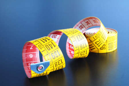 taylor: measuring tape of the tailor with copyspace for a text message