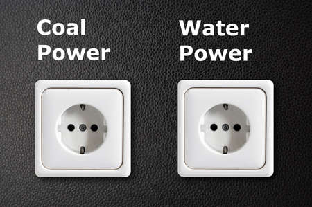 alternative energy concept with power outlet on black background Stock Photo - 7197153