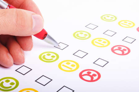 customer satisfaction questionnaire showing marketing or business concept Stock Photo - 7197059