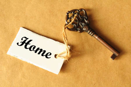 real estate: key to your new home showing real estate concept