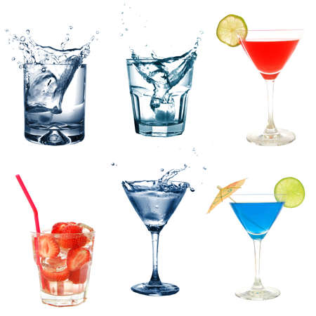 drink or cocktail collection isolated on a white background Stock Photo - 7280867