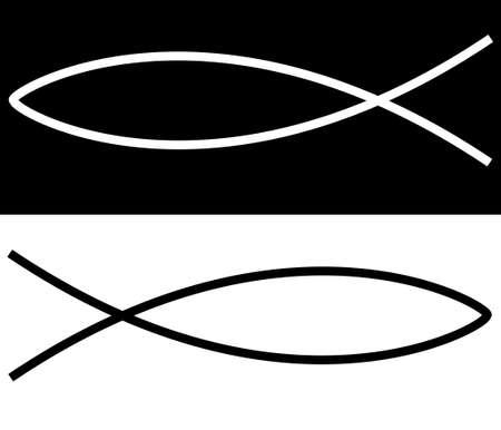 pez cristiano: peces cristiano ilustraci�n mostrando religi�n o iglesia el concepto de