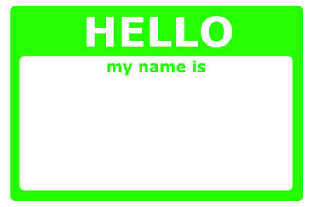 hello my name is sign with blank white copyspace for text message Stock Photo - 7287356
